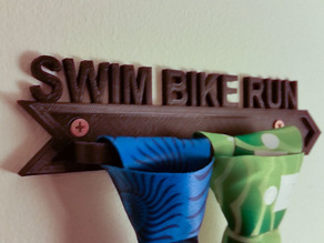 Triathlon Swim Bike Run Race Medal Rack Holder