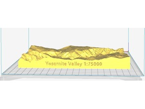 Yosemite Valley at 1:75000 Scale