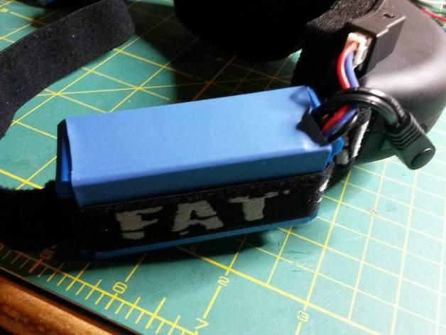 best service 4135b e964c Fat Shark Battery Case (Li-ion 18650 mod) by Eldrifto - Thingiverse