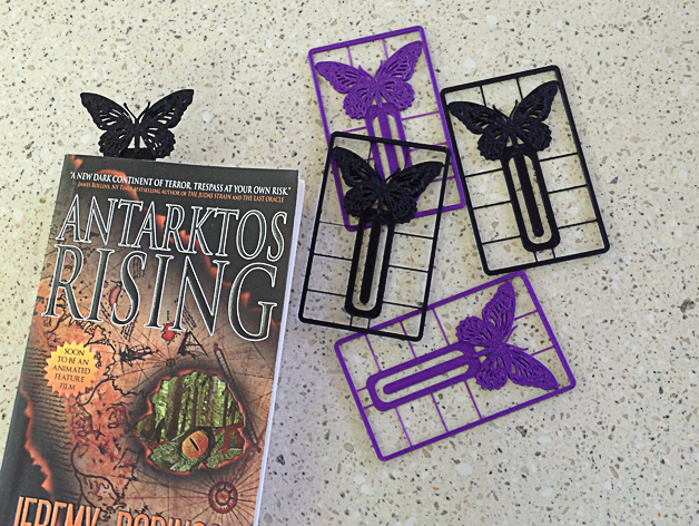 Butterfly bookmark business card by juliezva thingiverse thingiview colourmoves