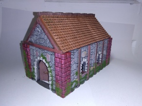 Medieval Cottage with opening door (28mm)