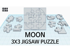 [1DAY_1CAD] 3X3 JIGSAW PUZZLE MOON