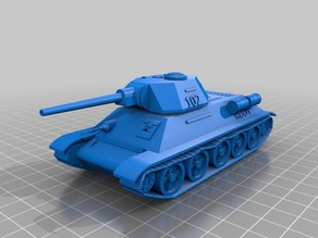 Tank T34 Rudy scale 28 mm