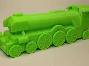 Flying Scotsman toy train with print in place rolling wheels