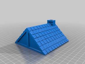 Shingled Rooftop 4in x 4in for 25/28mm Fantasy Buildings