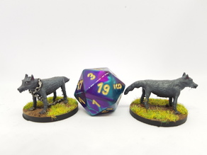 Wolves for 28mm tabletop gaming