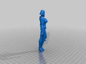 Female Storm Trooper Low Poly