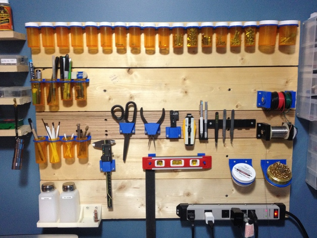 Pill Bottle Organizer For Tool Board By Jairusmartin