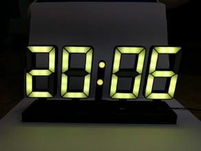seven segment LED clock (ESP8266 + WS2812b)
