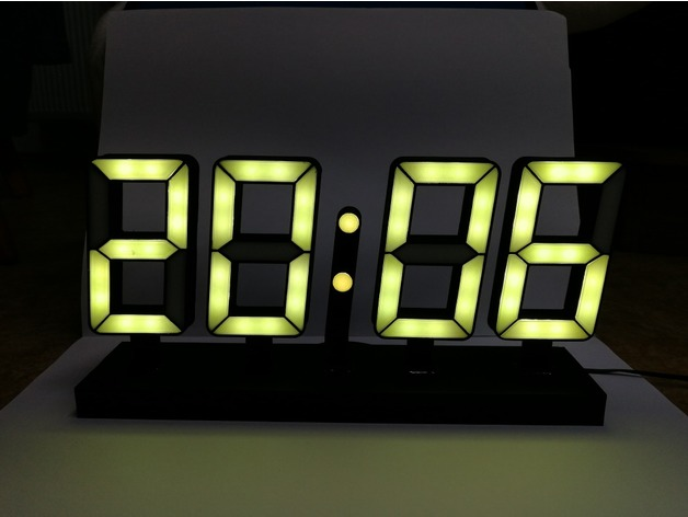 seven segment LED clock (ESP8266 + WS2812b) by jdobry