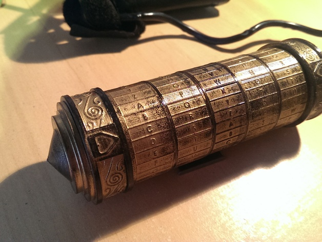 cryptex da vinci code by michaelmi782   thingiverse
