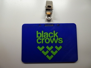 Black Crows Id card or badge holder