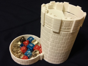 Dice tower and carrier - stone texture