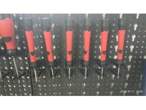Wall organizer handles tools