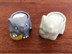 Elephant Tea Light