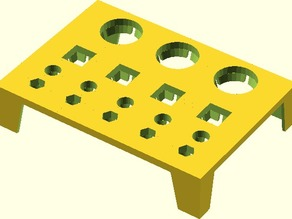 Customizable 4 Row Tool Bit Tray