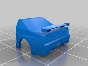 Low-Poly Nissan Skyline Printable version