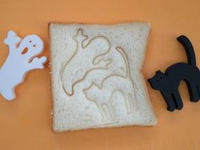 Halloween bread stamps