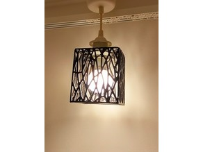 Voronoi Wireframe Oblong Lampshade (44mm)
