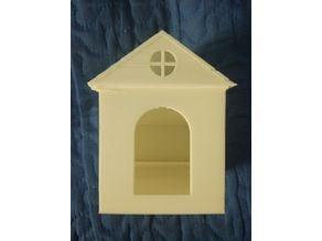 Bird house with rainwater supply