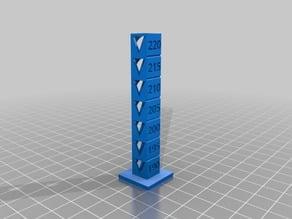 PLA Temperature Calibration Tower (190*C-220*C)