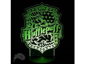 HufflePuff House Crest - LED Lamp Plate