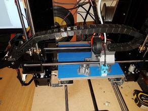 Anet A6 x carriage upgrade - e3d,  cube type sensor mount, cable chain + mounts, plus configuration file for skynet