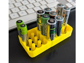 Combined AAA and AA battery holder