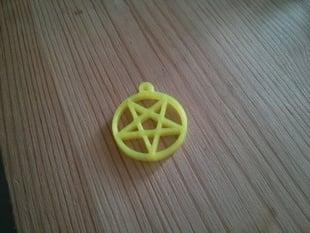 Small pentagram pendant