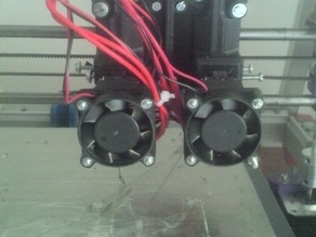 Dual direct drive extruder 3mm
