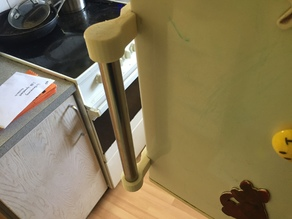 Fridge/freezer handle modified to Wasco KF3401w and 19.3mm pipe
