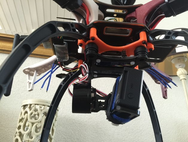2 axis gimbal mount for dji f450 quadcopter frame by michaelangeles thingiverse