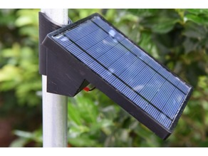 Solar panel pole mount & electronics enclosure
