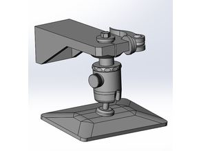 SLA Build platform using ball head
