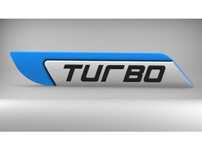 Turbo 3D logo for cars trucks