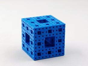 Menger's Sponge (Fractal Cube, 3D Sierpinski's Carpet)
