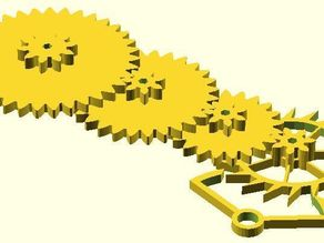 Parametric 60:1 Gear Train w/ Escapement
