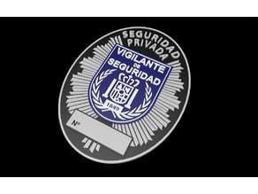 Placa Vigilante Seguridad Privada (Prototipo)