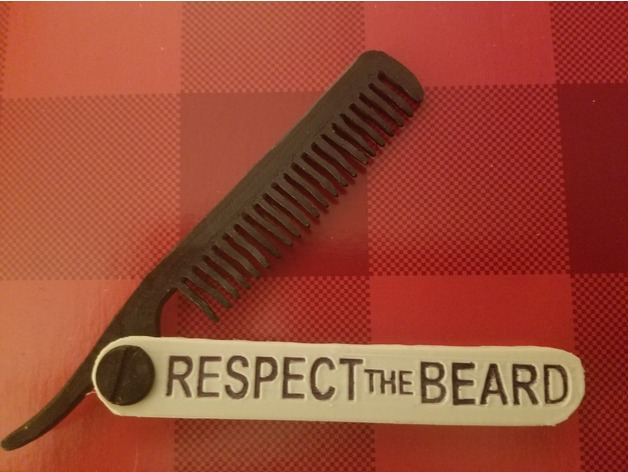 Folding Beard Comb by Joshfitz