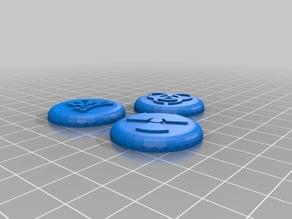 Hazard Symbol Miniature Bases (30mm)