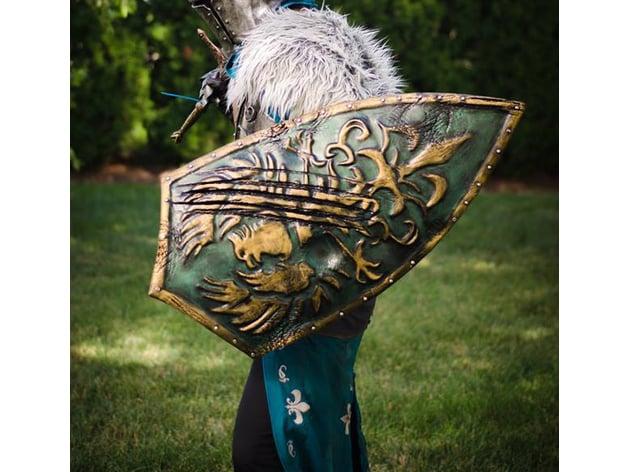 Battle Damaged Golden Wing Crest Shield [Dark Souls III] by