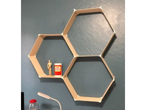 Hex shelf connectors