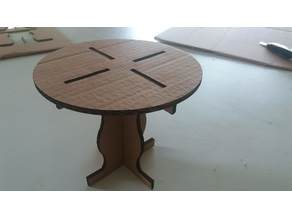 Round cardboard table