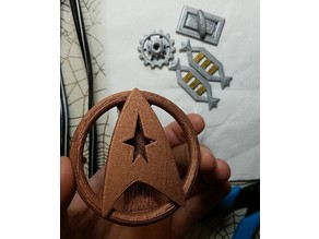 Star Trek Monster Maroon accessories Pins, Clasps, Ranks, Belt Buckle