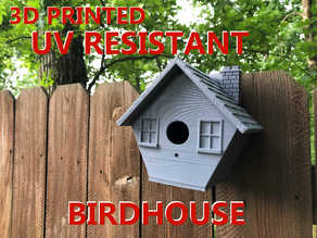 3D Printed Birdhouse + Fence Hook