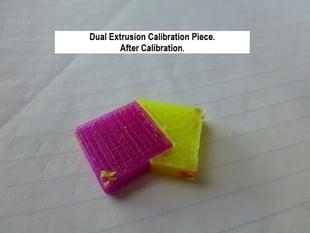 Dual Extrusion Calibration using Slic3r