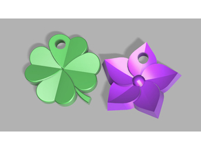 Clover and Blossom Keychain