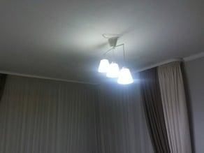 Chandelier 3 plafond