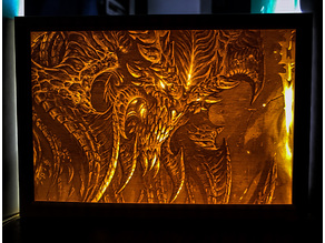 Diablo III Artwork Lithophane