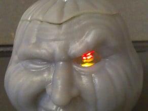 Grumpkin 2: candy box, secret lock, glowing LED eye